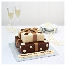 Easy Entertaining Presents 2 Tier Chocolate Polka Dot Cake