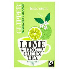 Clipper Green Tea With Lime and Ginger 20'S 40g