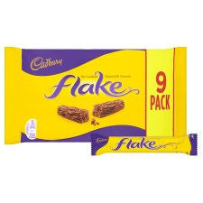 Cadbury Dairy Milk Flake Chocolate Bars X9 180G