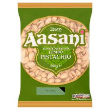Aasani Roasted And Salted Jumbo Pistachios 500G