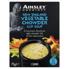 Ainsley Harriott New England Vegetable Chowder 3 Pack 75G