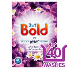 Bold Washing Powder Lavender And Camomile 40 Washes 2.6Kg