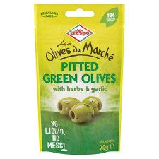 Crespo Olives Herbs And Garlic 70G