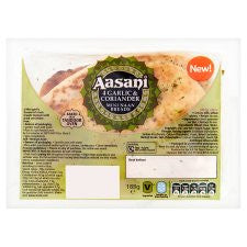 Aasani Mini Garlic And Coriander Naans 4S 188G