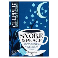 Clipper Snore and Peace Organic Tea Bags 20'S 30g