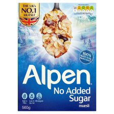 Alpen No Added Sugar Muesli 560G