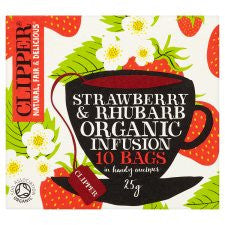 Clipper Organic Strawberry and Rhubarb Infusion 10'S 25g