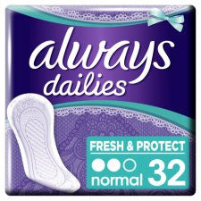 Always Dailies Normal Panty Liners 32 Pack