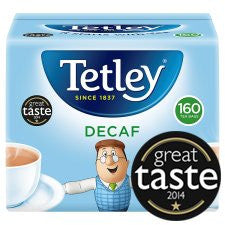 Tetley Decaffeinated Tea Bags 160'S 500g
