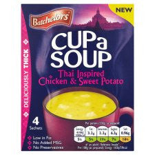 Batchelors Soup Thai Chicken And Sweet Potato 4Pack 96G