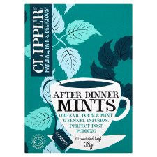 Clipper After Dinner Mints and Fennel Tea Bags 38g
