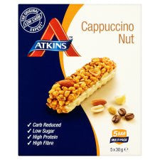 Atkins Cappuccino Nut Bars 5X30g