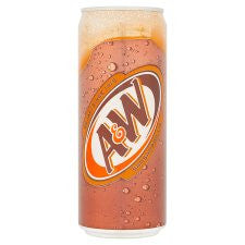 A&W Sarsaparilla Sparkling Flavoured Drink 330Ml