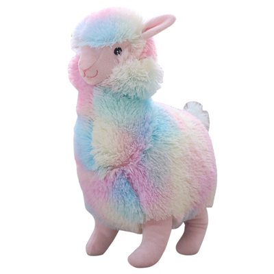 30cm Stuffed Soft Cotton Rainbow Alpaca  Plush Doll Horse Lama Animals Toys For Children Birthday Christmas Gifts