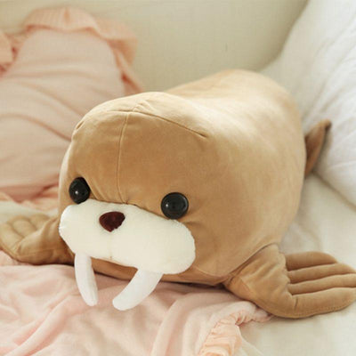 Squeezable Walrus Plush Toy Stuffed Animal Doll Home Decor Xmas Birthday Gifts
