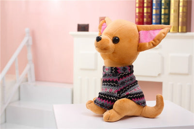 1pc25-40cm Chihuahua Puppy Kids Toy Kawaii Simulation Cute Stuffed Dog Animal Doll Birthday Gift for Girls Children