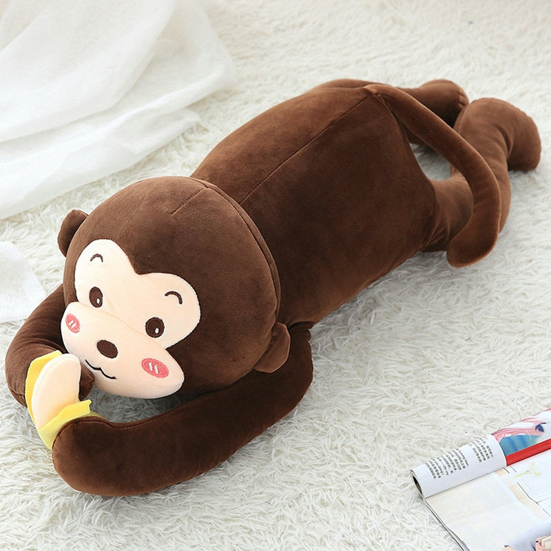 Adorable singe en animal en peluche