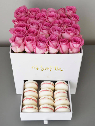 Roses box with macarons in London