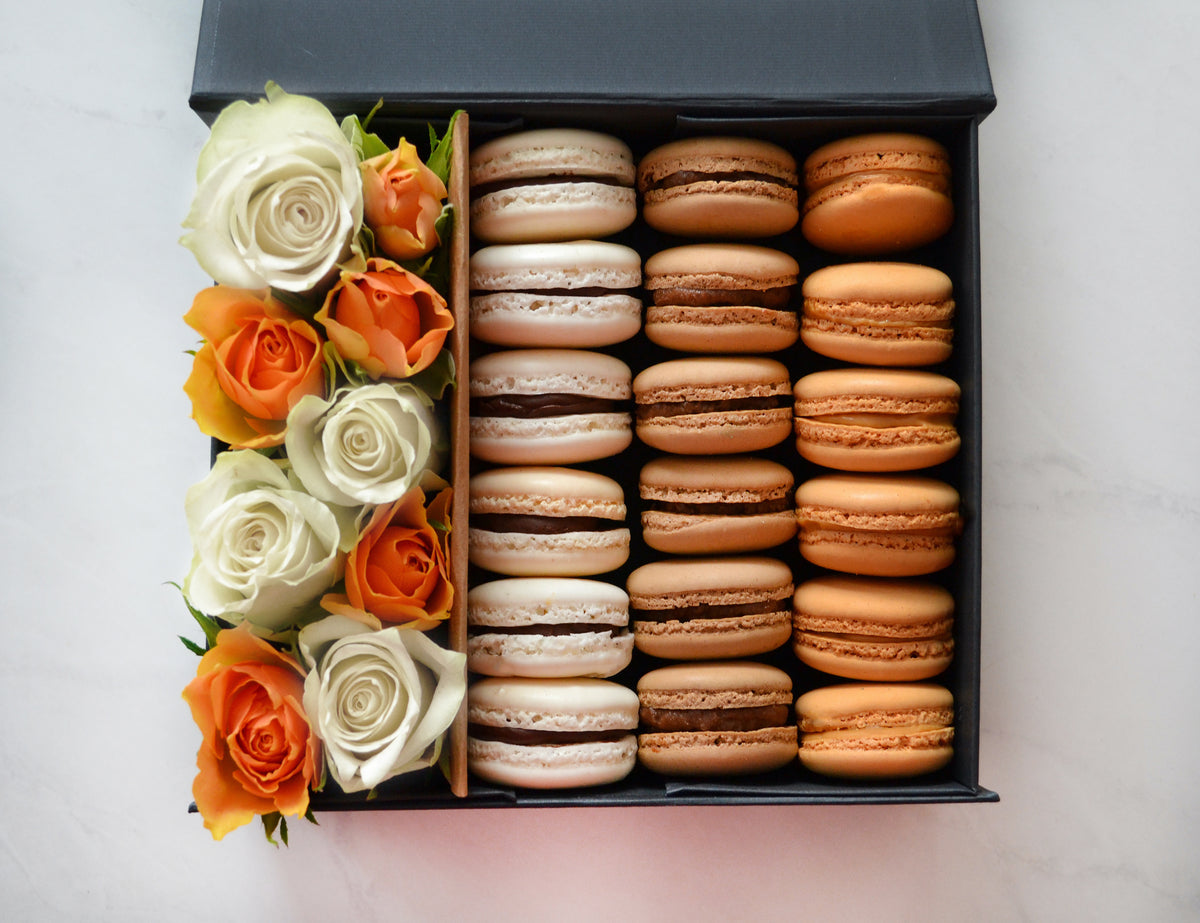 box of macarons for men