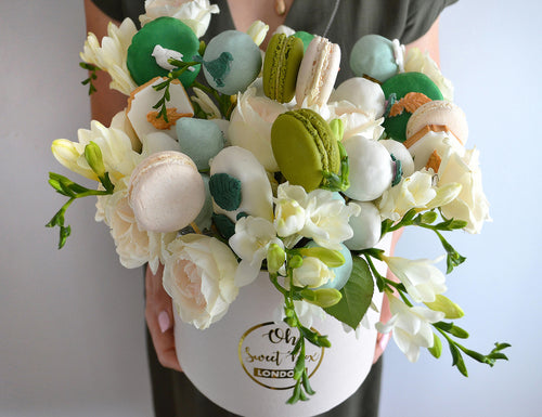 flower box with edible treats