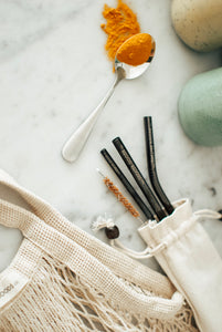 Ultimate Gunmetal Black straw set - The Greater Goods Collective Eco Products