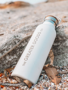 Double Walled Stainless Steel Drink Bottle - The Greater Goods Collective Eco Products