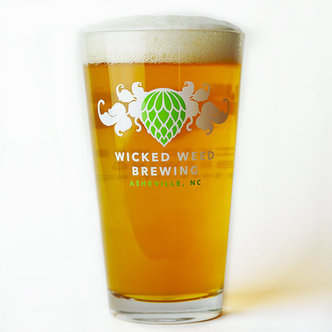 Wicked Weed Brewing Pint Glass: 4 Pack