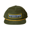 Loden Green w/ Gold Rope Patch Snapback
