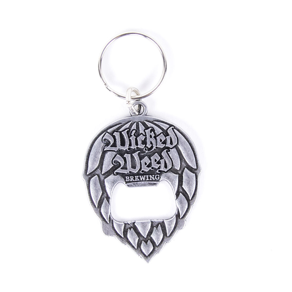 Wicked Weed Keychain Bottle Opener - Silver