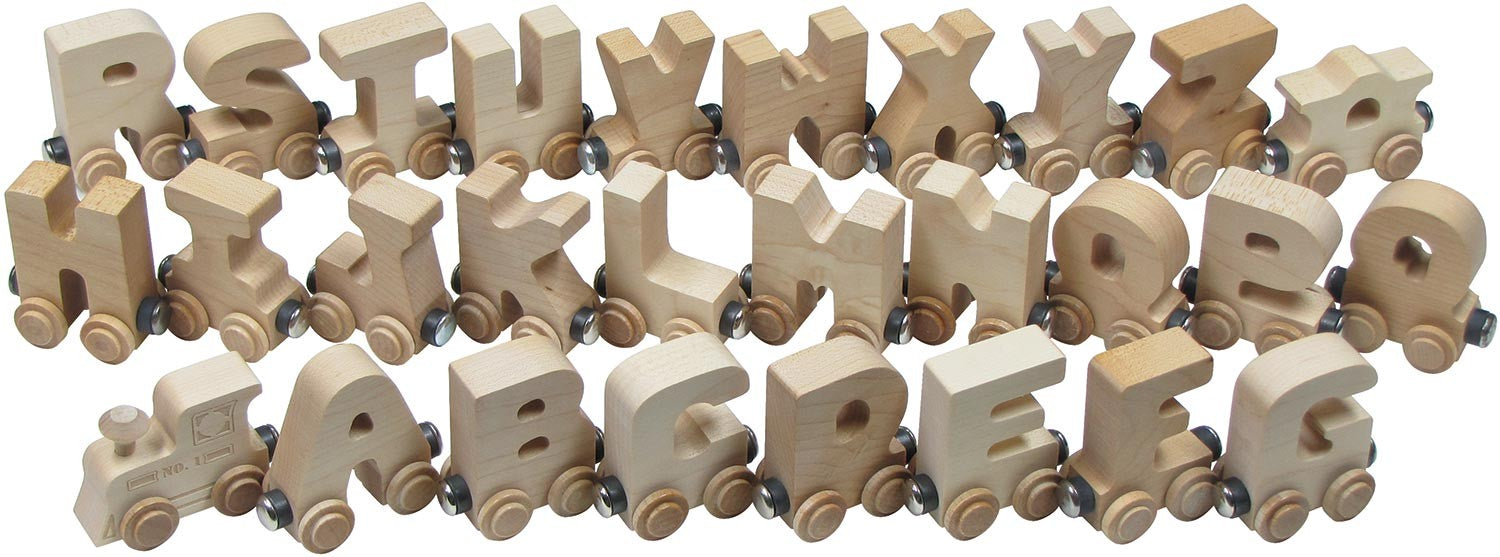 Natural Wood Name Train