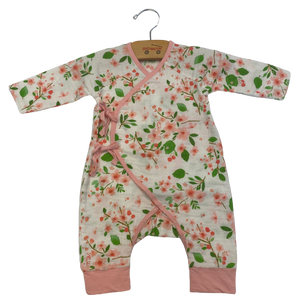 White Cherry Blossom Coverall