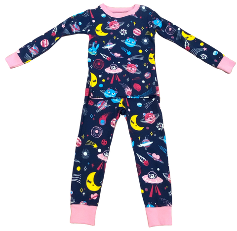 Navy Outer Space 2pc Pajama Set