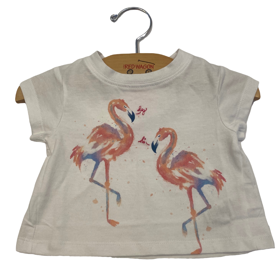 White Flamingo Tee