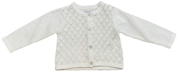 White Lattice Cardigan