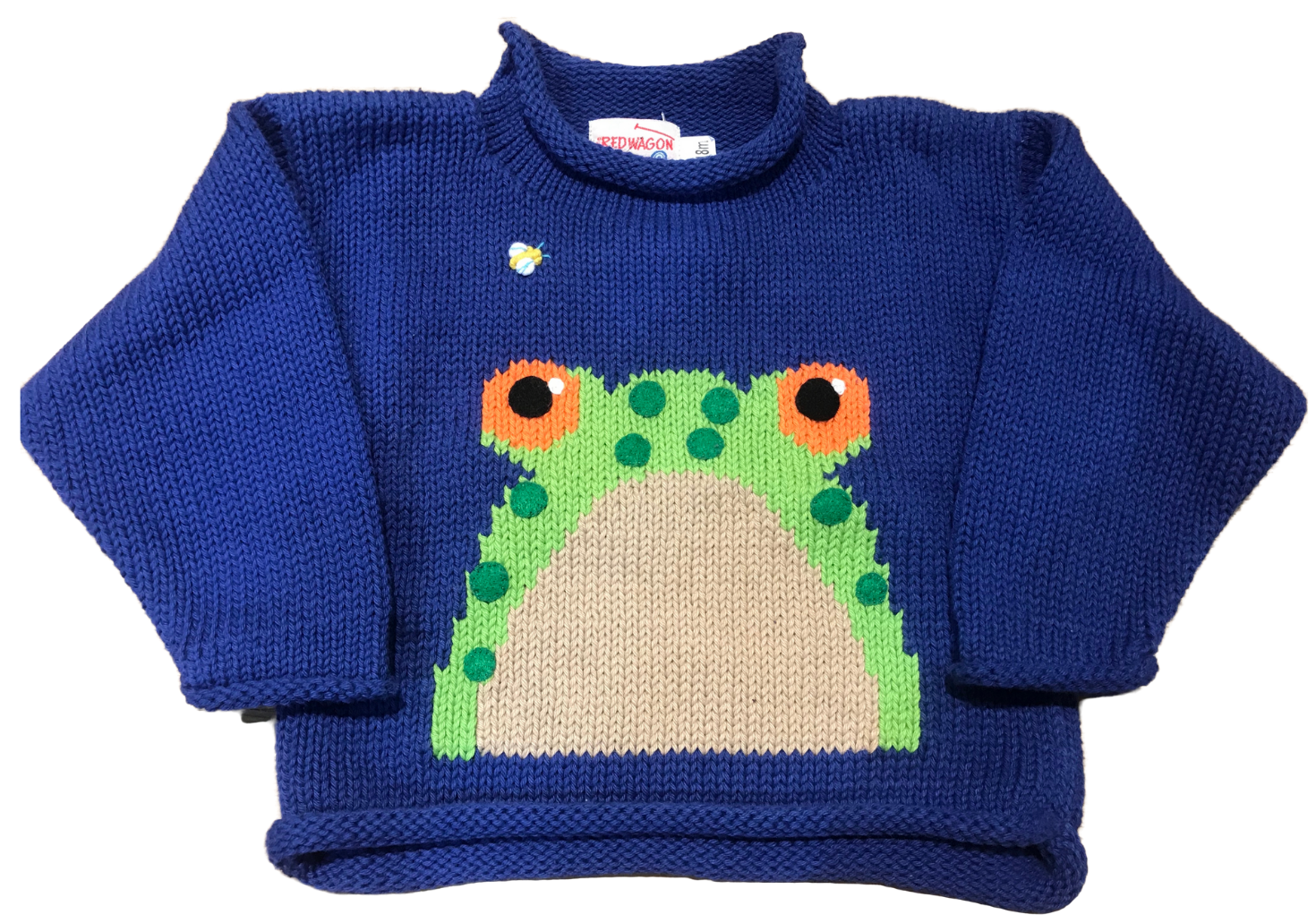 Blue Frog Roll Neck Sweater