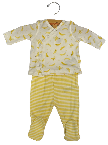 White and Yellow Banana 2pc Set