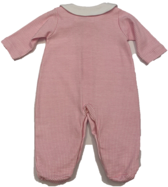 Pink and White Checkered Footie