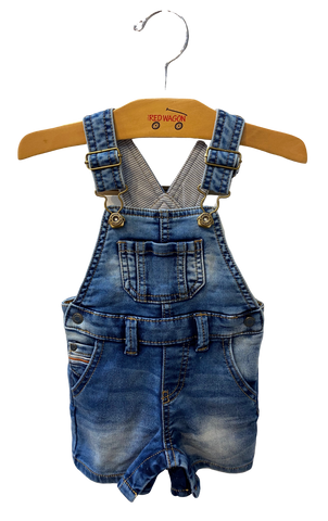 Basic denim overalls with pockets and snap button closures