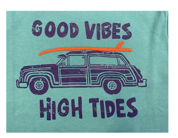 Blue Good Vibes Tee