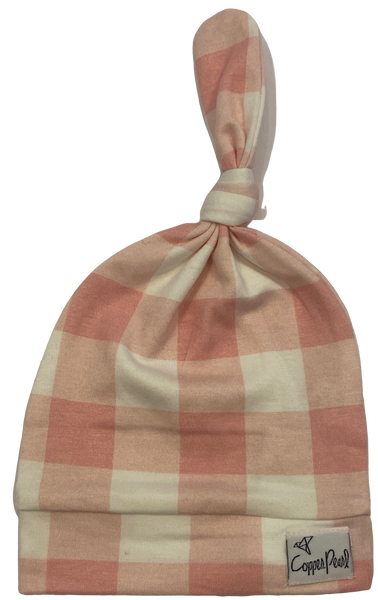Pink and White Checkered Hat