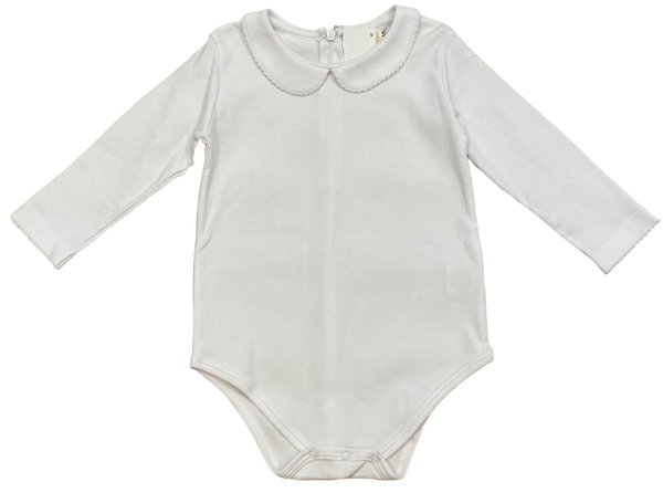 White Collared Onesie