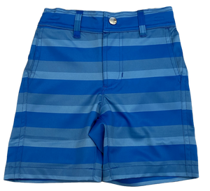 Blue Striped Wicking Shorts