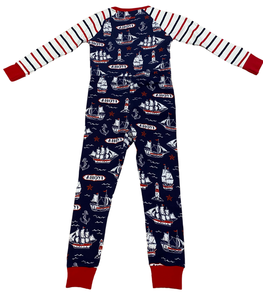 Navy Nautical 2pc Pajama Set