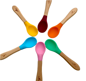 Bamboo Spoon for Babies and Toddlers Colorful