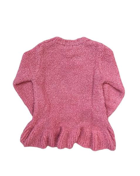 Pink Sequin Bolt Ruffle Sweater