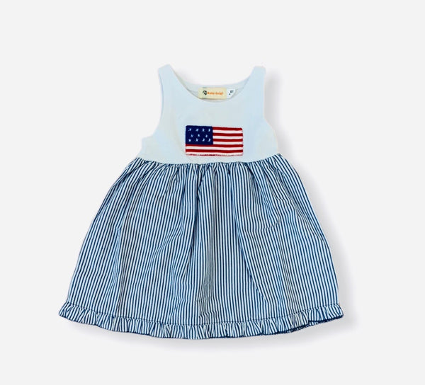 American Flag Seersucker Dress