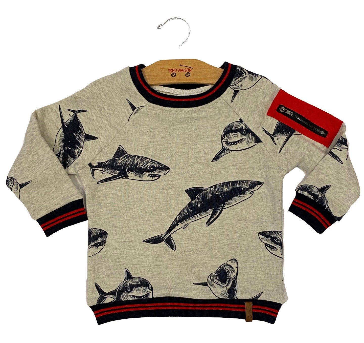 Gray Shark Crewneck Sweatshirt