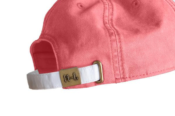 back of hat shows white clasp