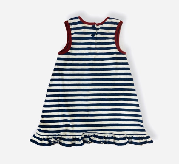 Kids Blue and White Striped Lobster Dress