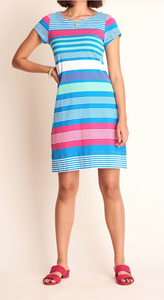 Multi Striped T-Shirt Dress